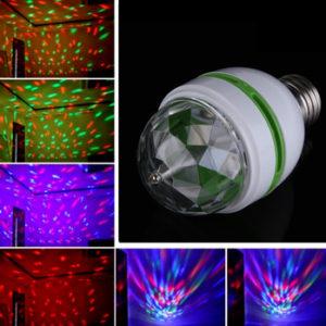 3W colorful auto rotating LED Bulb