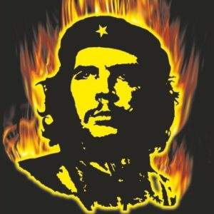 Burning Che Guevara Flag