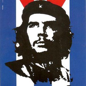 Che Guevara Cuba Flag Postcard