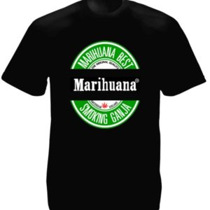 Marihuana Beer Tee-Shirt Black