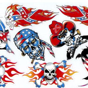 Skull Confederate Stickers