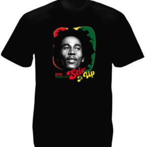 Stir It Up Bob Marley Black Tee-Shirt