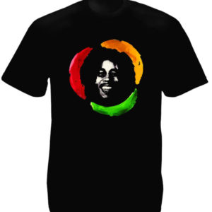 Happy Bob Marley Black Tee-Shirt