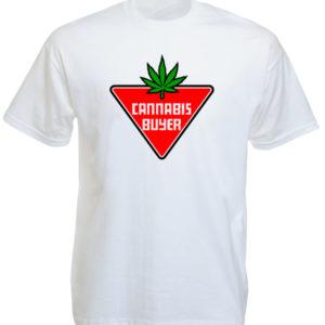 Cannabis Buyer White Tee-Shirt