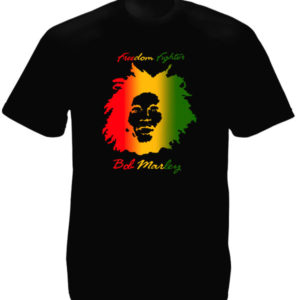 Bob Marley Freedom Fighter Black Tee-Shirt