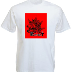 Rasta Ankh Lion Cannabis White Tee-Shirt