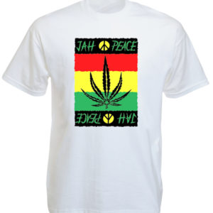 Jah Peace Rasta White Tee-Shirt