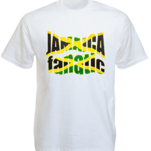 Jamaica Flag Colors Fanatic White Tee-Shirt