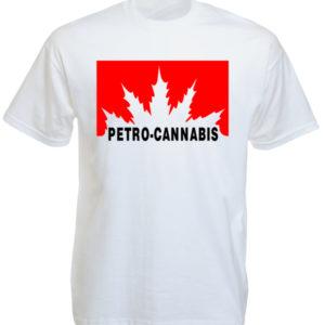 Petro-Cannabis Canada White Tee-Shirt