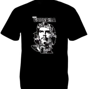 White Che Guevara Portrait Black Tee-Shirt