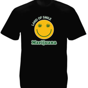 Land of Smile Marijuana Black Tee-Shirt