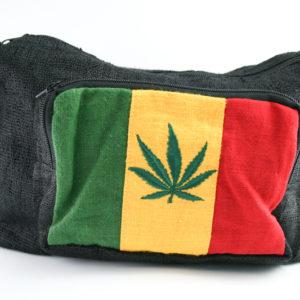 Rasta Hemp Shoulder Bag Leaf with Front and Side Pockets