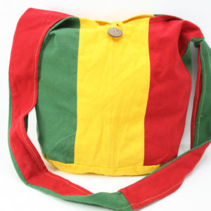 Rasta Striped Hemp Shoulder Hippie Bag