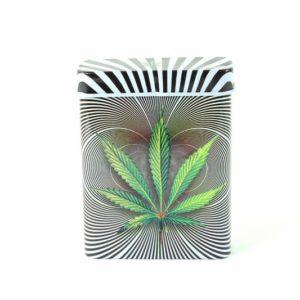 Rasta Cigarette Case Psycho Cannabis Leaf