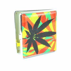 Rasta Cigarette Case Ganja Leaf