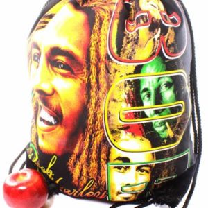 Rasta Drawstring Backpack Bob Marley Dreadlocks