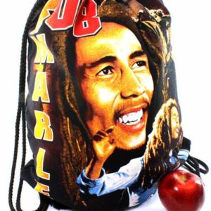 Rasta Drawstring Backpack Bob Marley Smiling
