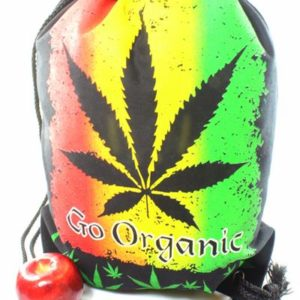 Rasta Drawstring Backpack Go Organic Leaf