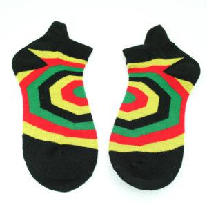 Black Rasta Colors Socks