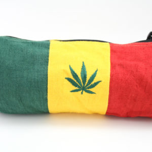 Rasta Leaf Hemp Tube Bag