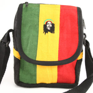 Bob Marley Shoulder Bag with Zip and Velcro