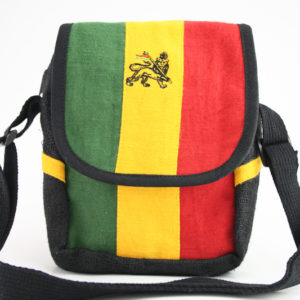 Lion of Judah Shoulder Bag with Zip and Velcro