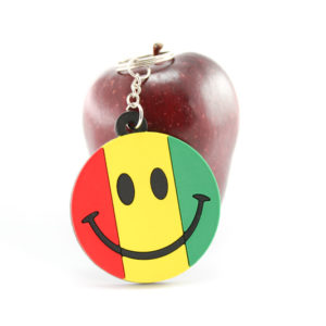 Rasta Keychain Smiley