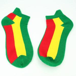 Green Rasta Socks Colors Stripes