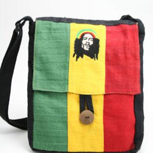 Bob Marley Hemp Large Flat Bag with Button