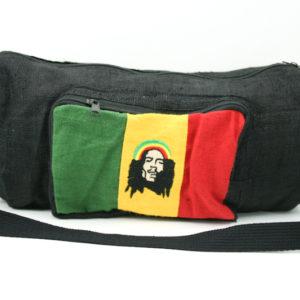 Rasta Hemp Shoulder Bag Bob Marley with Front and Side Pockets