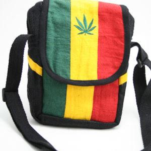 Leaf Shoulder Bag with Zip and Velcro
